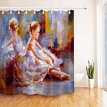 gwregdfbcv Ballet girl shower curtain bathroom