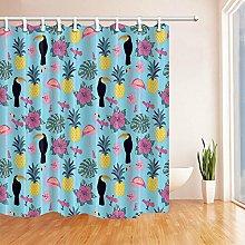 gwregdfbcv Bathroom shower curtain with birds and
