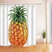 gwregdfbcv Big pineapple bathroom shower curtain