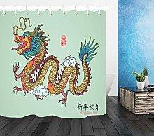 gwregdfbcv Chinese Dragon Year Shower Curtain