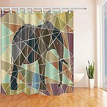 gwregdfbcv Cute wild elephant Shower curtain