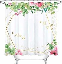 gwregdfbcv Geometric watercolor floral bathroom