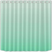 gwregdfbcv Green gradient long shower curtain