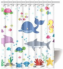 gwregdfbcv Marine life bathroom shower curtain