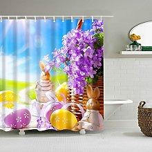 gwregdfbcv Purple flower basket cute rabbit yellow