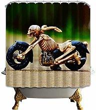 gwregdfbcv skull motorcycle shower curtain toile