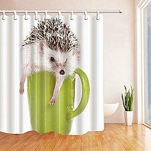 gwregdfbcv Teacup hedgehog bathroom shower curtain