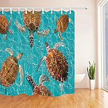 gwregdfbcv Turtle Shower curtain