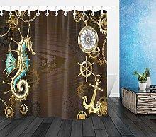 gwregdfbcv Vintage nautical jewelry shower curtain