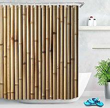gwregdfbcv Wooden bamboo background shower curtain