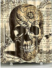gwregdfbcv Yellow Skull Shower Curtain for Home