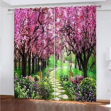 GXCBLK 3D Cherry Blossom Trail Background Pattern