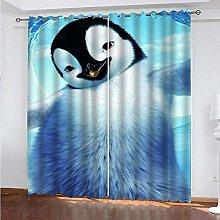 GXCBLK 3D Cute Animal Penguin Pattern Blackout