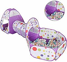 GXK 3 in 1 Kids Play Tent Toddler Tunnel Play Set