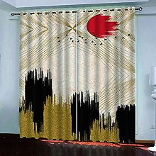 GXLOGA Blackout Curtains for Bedroom Abstract