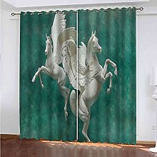 GXLOGA Blackout Curtains for Bedroom Angel white
