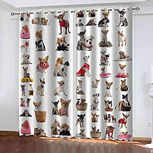 GXLOGA Blackout Curtains for Bedroom Animal puppy