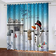 GXLOGA Blackout Curtains for Bedroom Christmas