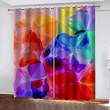 GXLOGA Blackout Curtains for Bedroom Colorful