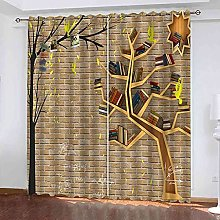 GXLOGA Blackout Curtains for Bedroom Creative