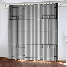 GXLOGA Blackout Curtains for Bedroom Gray