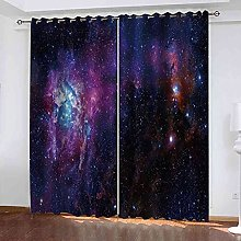GXLOGA Blackout Curtains for Bedroom Milky Way,