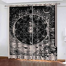 GXLOGA Blackout Curtains for Bedroom Retro gossip