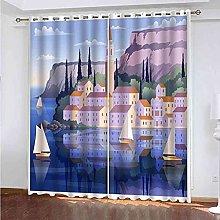GXLOGA Blackout Curtains for Kids Bedroom Eyelet