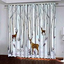 GXLOGA Thermal Blackout Curtains for Bedroom Elk