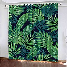 GXLOGA Thermal Blackout Curtains for Bedroom Green