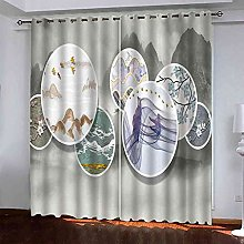 GXLOGA Thermal Blackout Curtains for Bedroom Ink