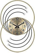 GXM-LZ Decorative Wall Clock,Wrought Iron Silent