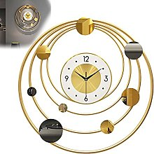 GXM-LZ Large Modern Sunburst Wall Clock,Wrought