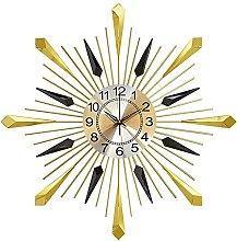 GXM-LZ Large Sunburst Wall Clocks,Wrought Iron