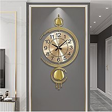 GXM-LZ Modern Metal Wall Clocks,Gold Decoration