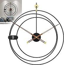 GXM-LZ Modern Round Metal Wall Clocks,Decoration