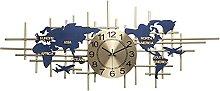 GXM-LZ World Map Wall Clock for Home Decor, Modern