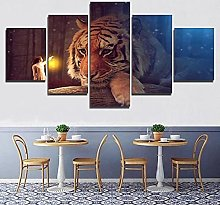 Gxucoa Print Painting Canvas 5 Pieces Home Modern