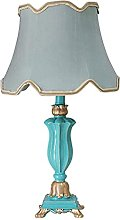 GXY Bedside Lamp Table Lamp Blue Fabric Lampshade