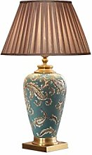 GXY Bedside Table Lamp, Modern Ceramic Copper