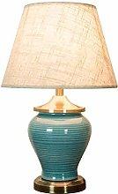 GXY Blue Ceramic Table Lamp, American Modern