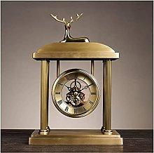 GXY Desk Clock European Style Fireplace Clock