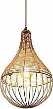 GXY Loft Lamp Rattan Vintage,Natural Simple Retro
