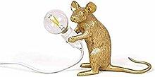 GXY Loft Modern Desk Lamp Gold Resin Mouse Table