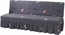 GYHH Elastic Printed Armless Sofa Bed Cover