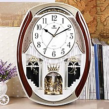 GYHHHM Melodies in Motion Musical Wall Clock with