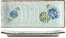 GYHJG Long Sushi Plate Ceramic Dinner Plate Home