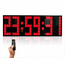 Gym Timer Remote Control Jumbo Digital Led Wall