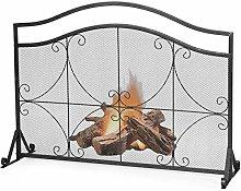 GYMAX Fireplace Screen Guard, Spark Fire Guard