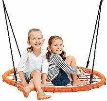 GYMAX Kids Nest Swing, 100-160cm Adjustable Rope